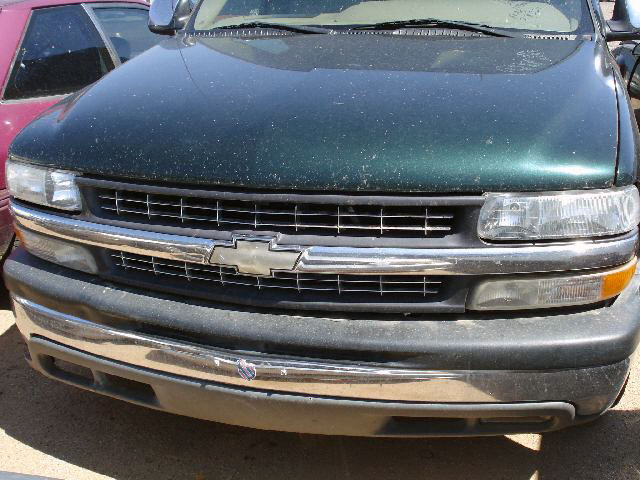 Inspecting front end of Chevrolet Silverado involved in minor accident