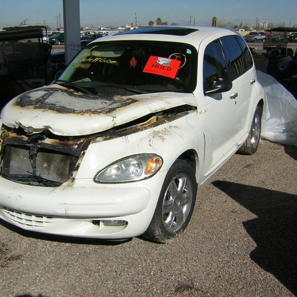 Burned Chrysler PT Cruiser